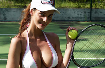 sexy nude tennis player