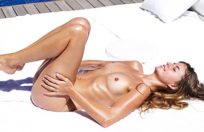 sexy babe relaxing totally nude